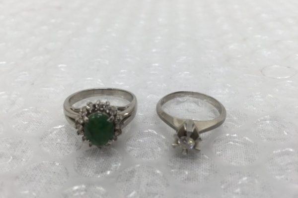 [出張買取]千葉県浦安市 ダイヤ/翡翠指輪(ど ちらもプラチナ900)