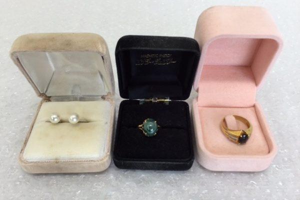 [出張買取]千葉県山武郡芝山町 K18指輪とパールイヤリング
