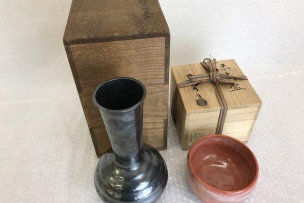 [出張買取]千葉県東金市 骨董 古物 花瓶  抹茶碗