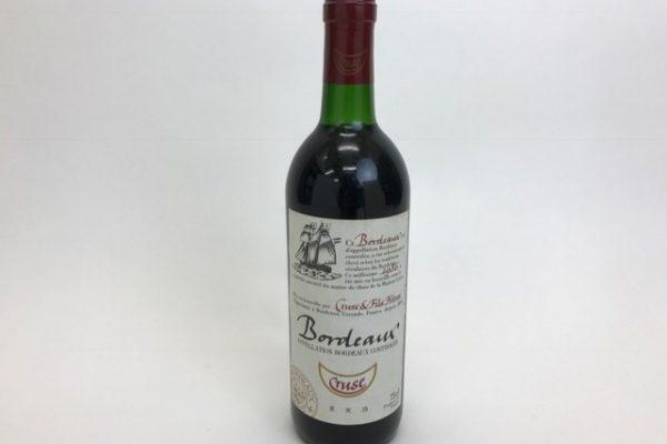 クルーズ ボルドー バイクルーズルージュ 1986 年 赤ワイン 買取り